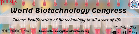 World Biotechnology Congress: Proliferation of Biotechnolgy in all areas of life